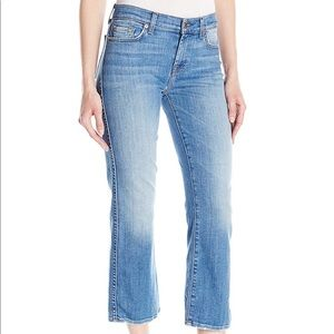 NWT 7FAM Cropped Boot Cut Jeans Grinded Hem Size30